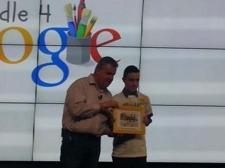 Shane Daly is runner up in the National Doodle4Google competition