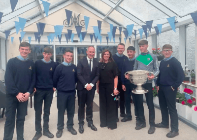 Past Pupil Jim Gavin visits with Sam  –  October 2019