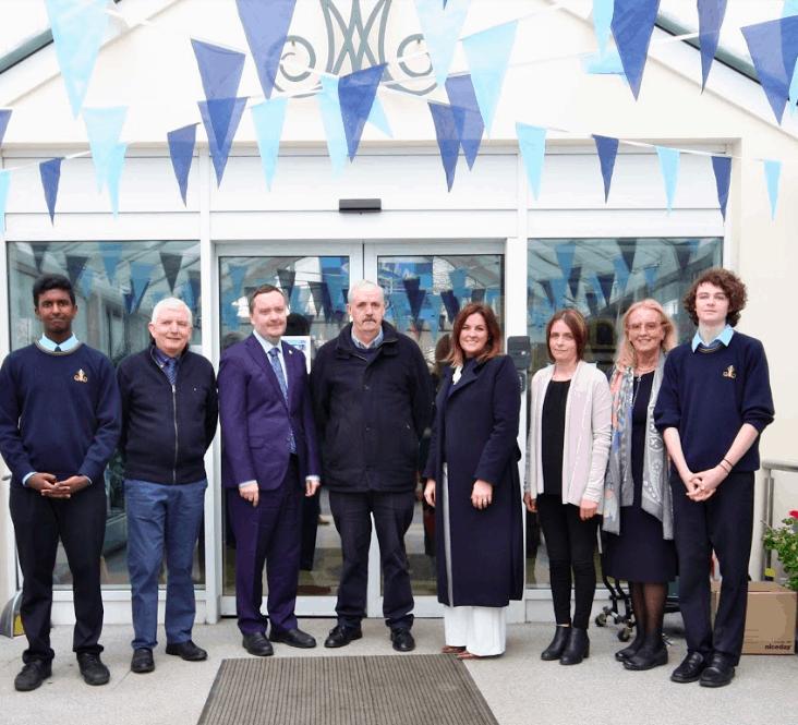 Past pupil and Irish Ambassador to Malta, Patrick Duffy visits Moyle Park